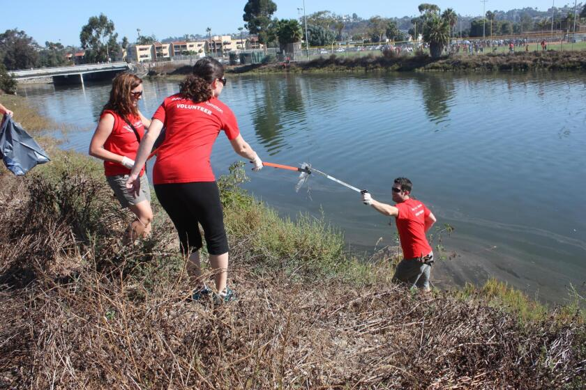 Volunteers clean up Rose Creek regularly, gathering more than four tons of trash annually.