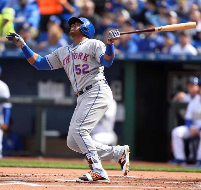 En la imagen, el jugador de los Mets de Nueva York Yoenis Céspedes. EFE/Archivo