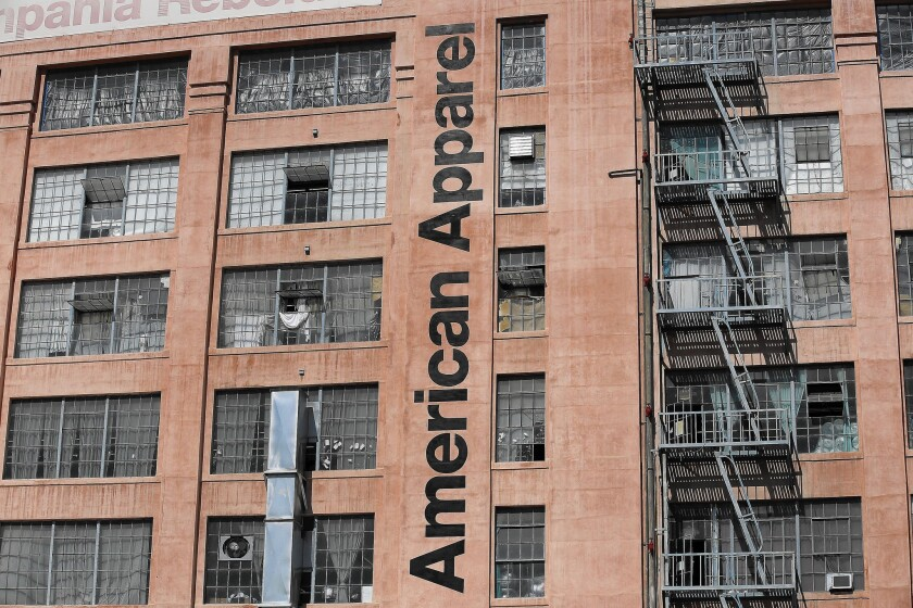 American Apparel employees have been venting their frustrations at protests in the parking lot outside the company's headquarters and sewing factory in downtown L.A.