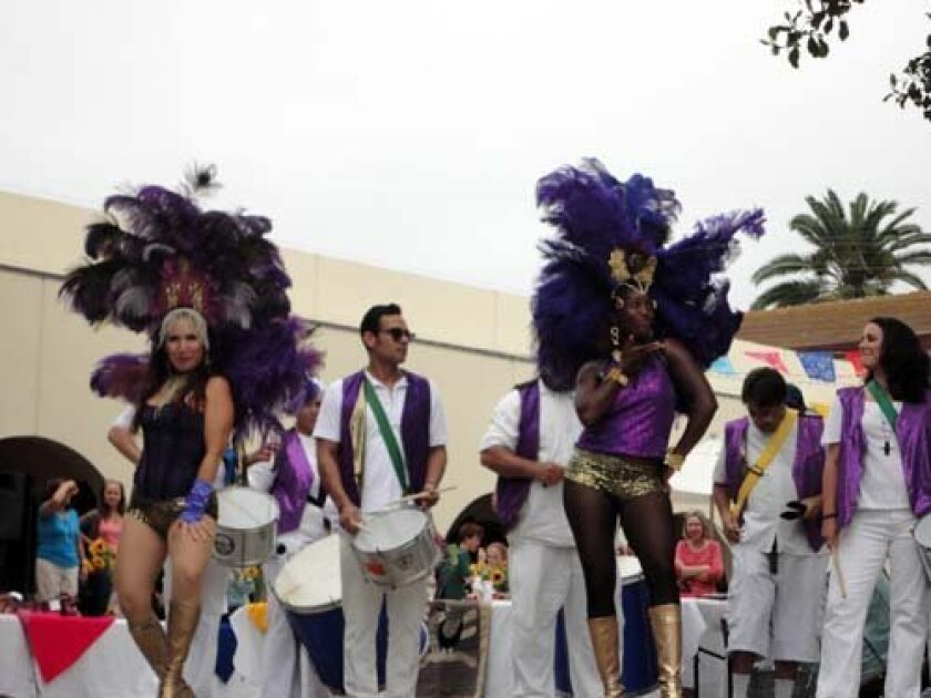 Samba dancers perform at The Bishop's School as part of the Hispanic Heritage Month kickoff. Photo: Joceyln Maggard