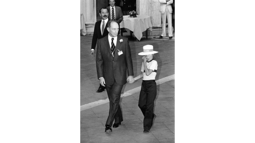 Canadian Prime Minister Pierre Trudeau with young son Justin Trudeau