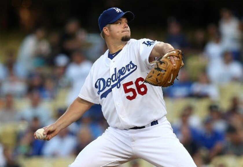 Joe Blanton went 2-4 with a 4.99 ERA in 10 starts with the Dodgers.