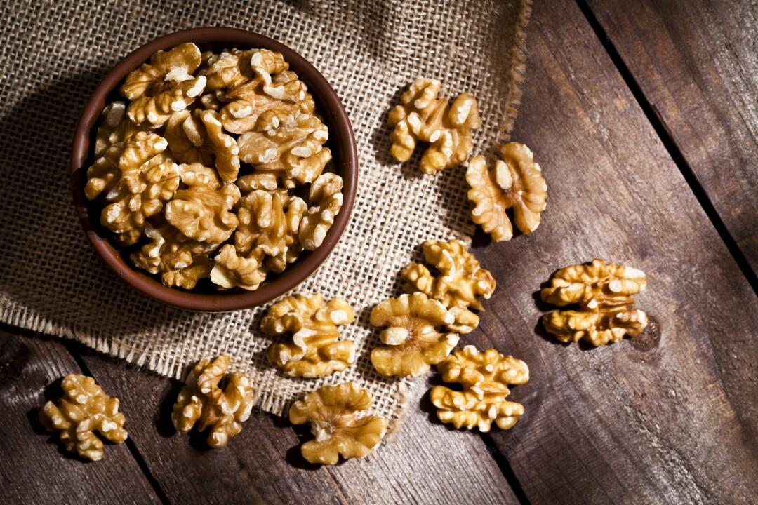 Organic walnuts still life