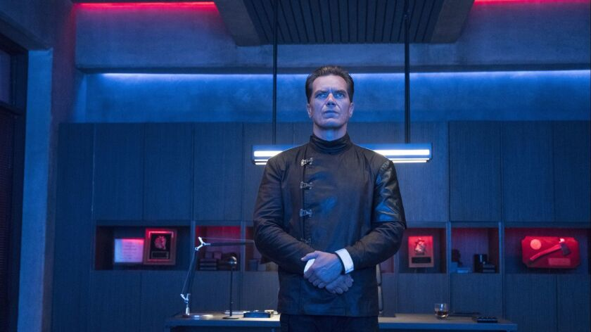 "Michael Shannon in a scene from ""Fahrenheit 451."" Credit: Michael Gibson/HBO"