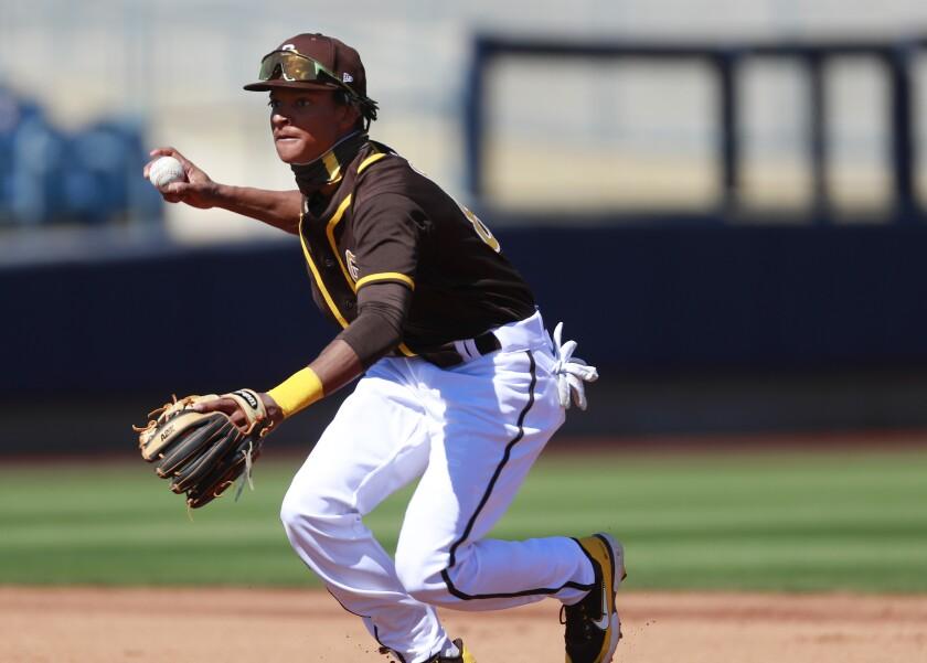 Padres shortstop CJ Abrams