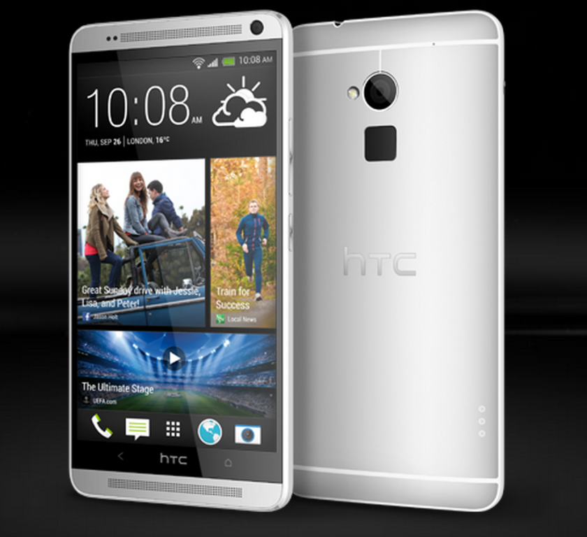The HTC One Max features a 5.9-inch screen and a fingerprint scanner.