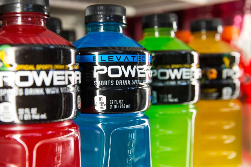 LeBron James is a spokesman for Powerade, the rival drink maker to Gatorade.