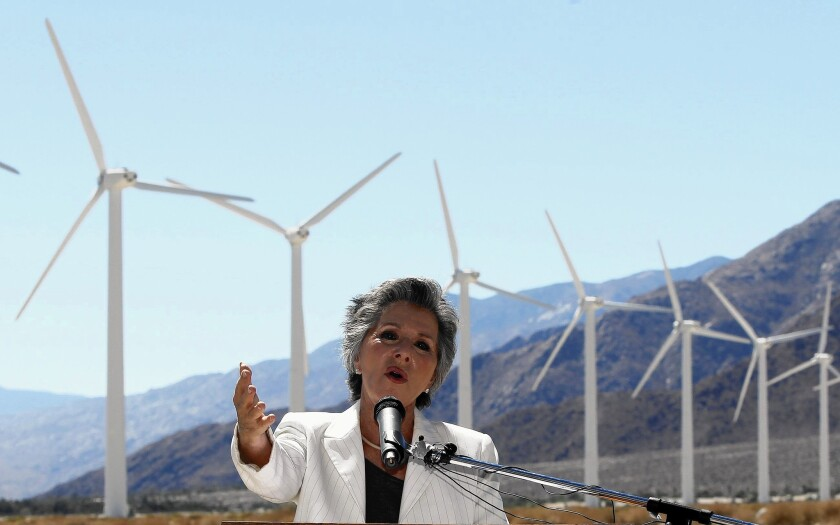 "Sen. Barbara Boxer (D-Calif.) has asked President Obama to stop the Environmental Protection Agency from rolling back a renewable fuel standard, saying to do so would destabilize state efforts to combat climate change and create ""loopholes for oil companies."""
