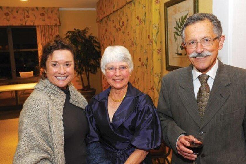 Carlota Franklin Campbell, Sandy and Art Yayanos. Photos by Jon Clark