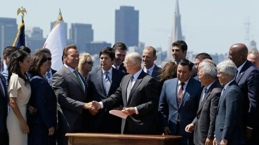 Jerry Brown, Arnold Schwarzenegger