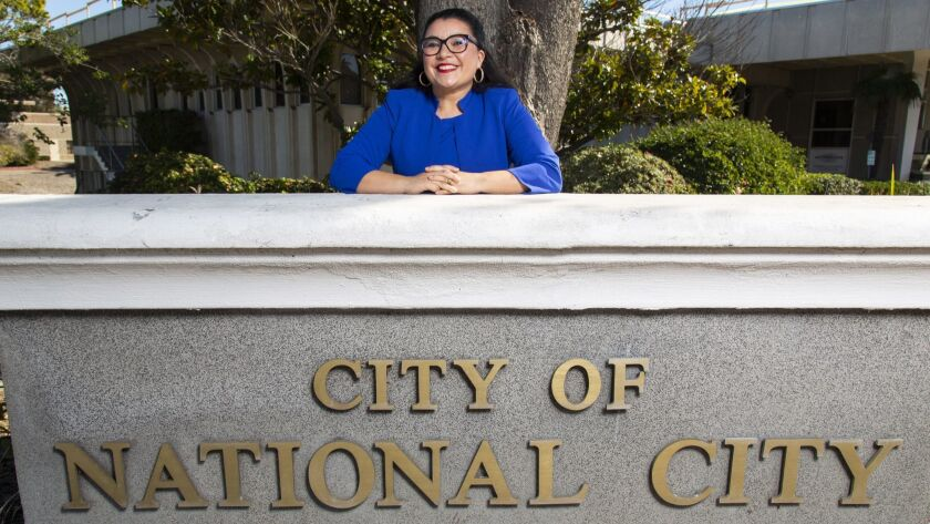 National City Mayor Alejandra Sotelo-Solis poses at City Hall in National City on Dec. 13, 2018. She gave her first State of the City address on Thursday.