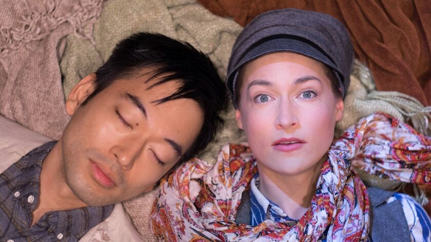 """Daisuke Tsuji and Sally Hughes co-star in a partner-cast 2017 production of Shakespeare's """"As Yo"""