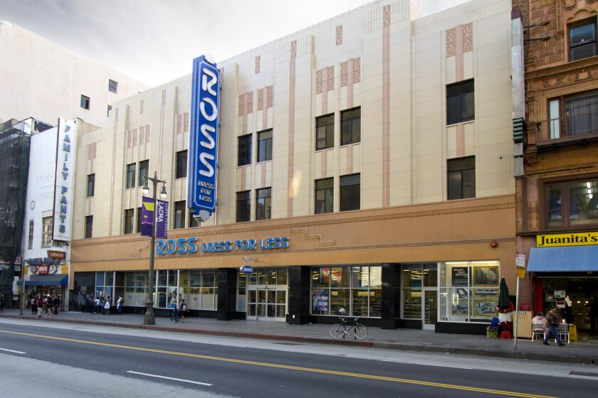 Bidding will start at $4 million when the former Woolworth's store on Broadway in downtown Los Angeles, now home to Ross Dress for Less, is sold at auction next month.
