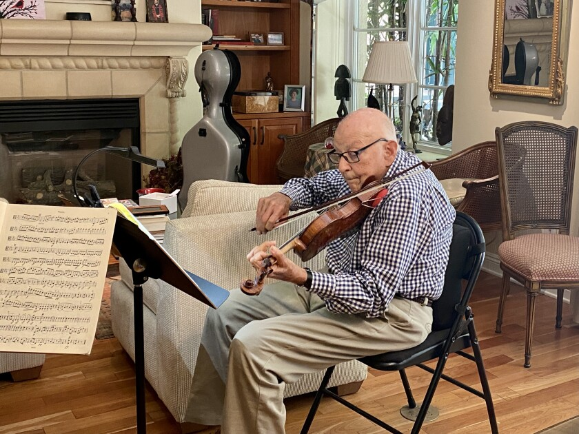 For Martin Nass, 94, playing music is a way to express his feelings.