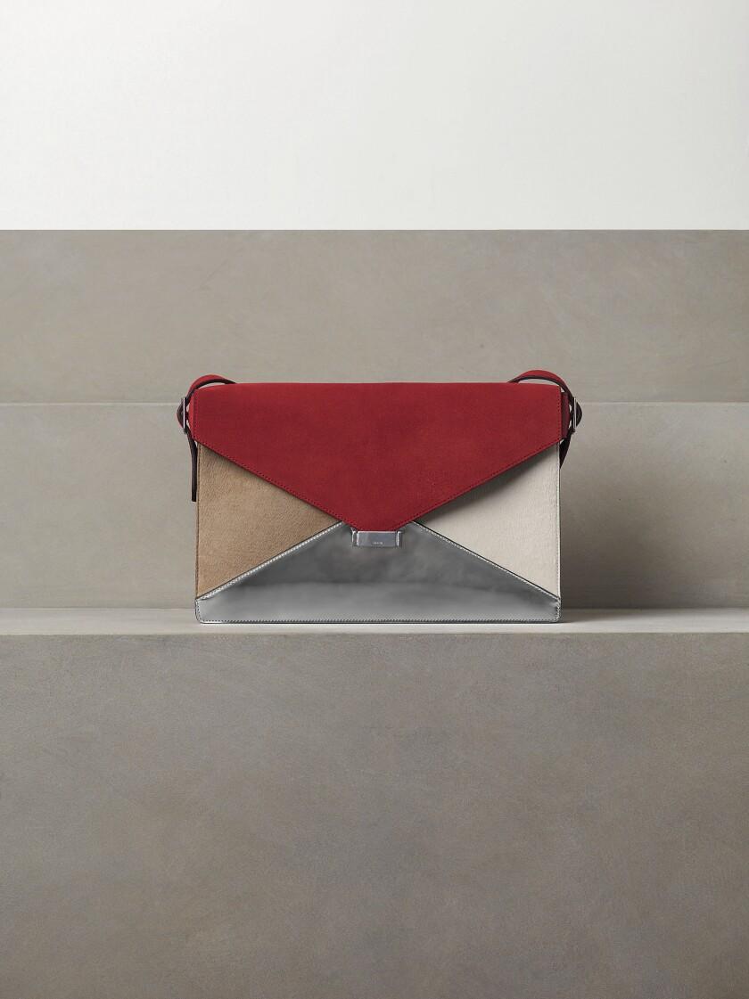 Céline tricolor envelope bag, $2,450 at Maxfield Los Angeles.