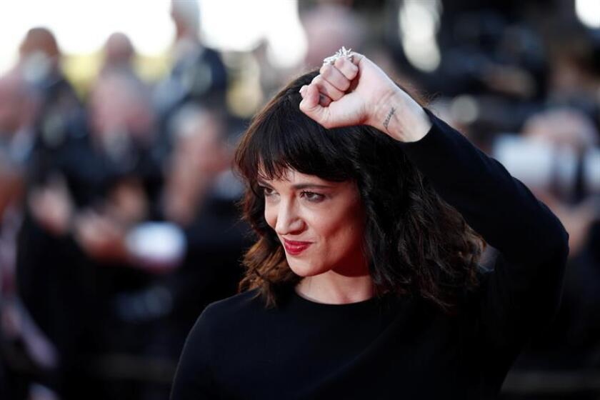 Asia Argento arrives for the screening of 'The Man who Killed Dom Quixote' and Closing Awards Ceremony of the 71st annual Cannes Film Festival, in Cannes. EFE/EPA/FILE