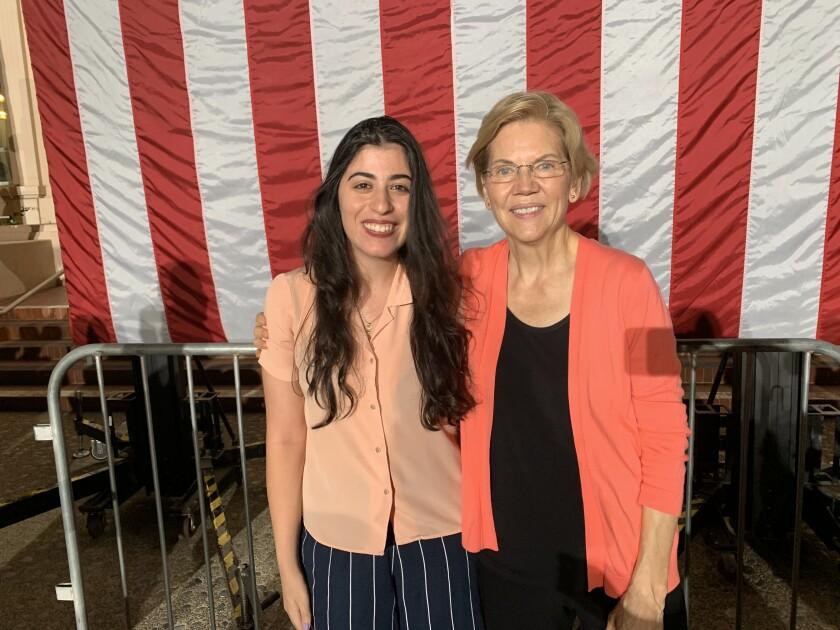 Sherin Zadah and Elizabeth Warren