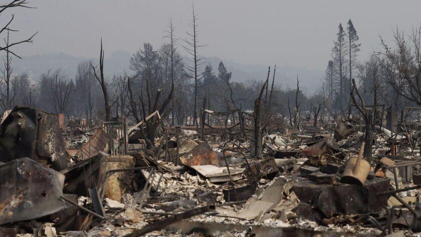Wildfires burn Northern California, leaving at least 10 people dead, Santa Rosa, USA - 10 Oct 2017