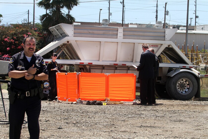 Burbank man crushed to death by gravel truck