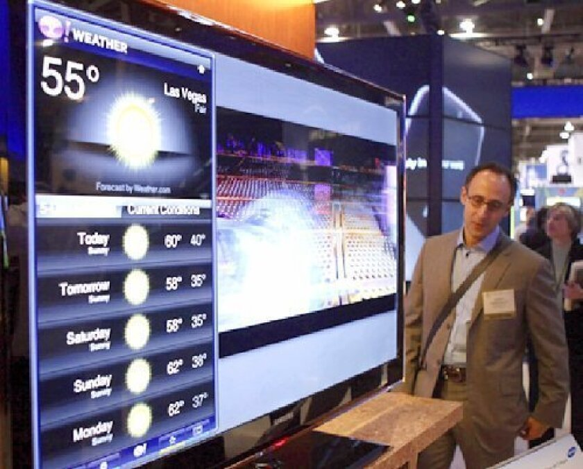 Samsung is one of several companies showing internet-enabled TVs at this year's CES.