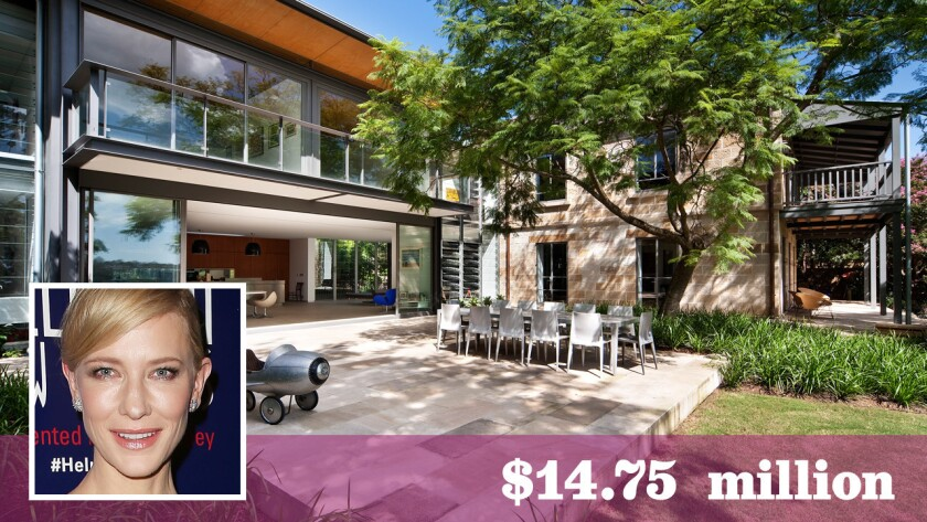 Actress Cate Blanchett and her husband, playwright Andrew Upton, have listed their updated contemporary-style home in Sydney, Australia, for sale at $14.755 million.