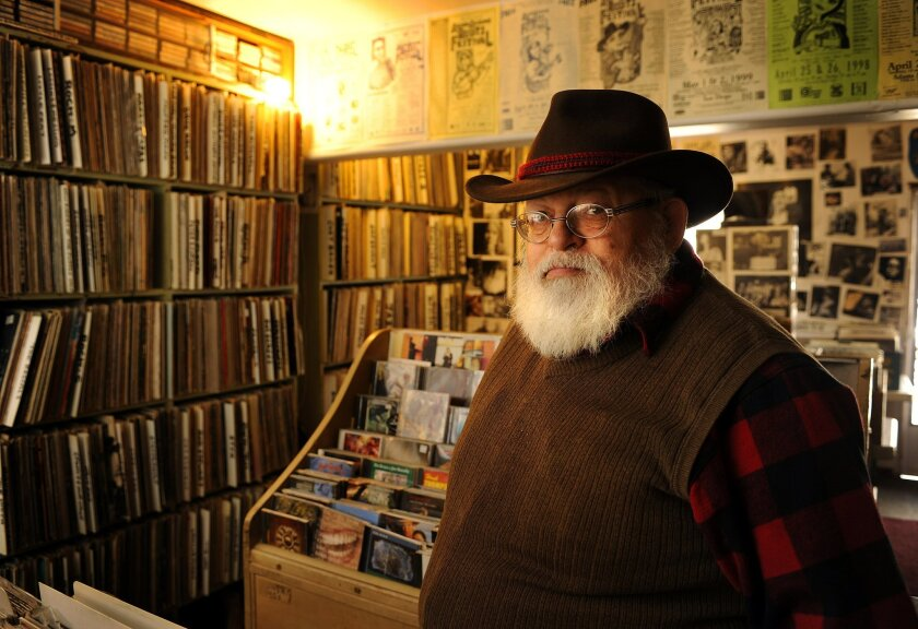Lou Curtiss founded Folk Arts Rare Records in 1967 and and co-founded the San Diego Folk Festival the same year. He will be honored Sunday Oct. 2 at a three-hour concert, from 7 to 10 p.m. at San Diego City College's Saville Theatre.