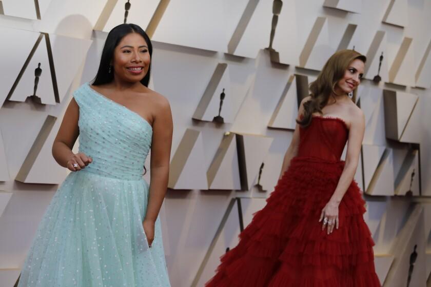 HOLLYWOOD, ?CA ? February 24, 2019 - Best Actress nominee for 'Roma' Yalitza Aparicio (L) and Best