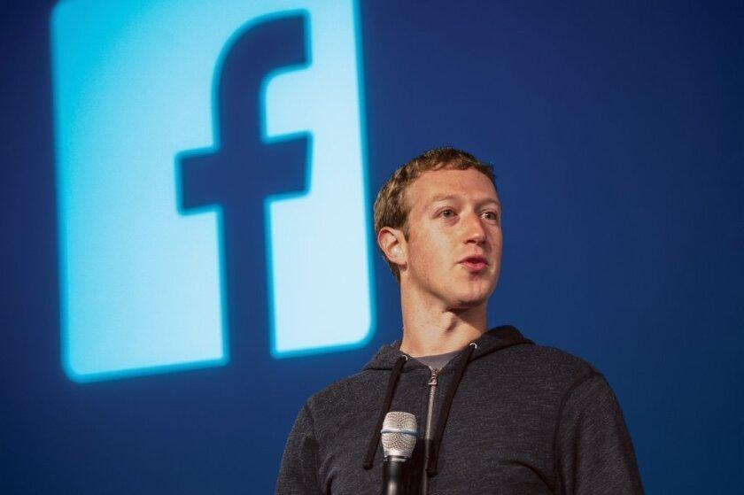 Mark Zuckerberg, chief executive of Facebook