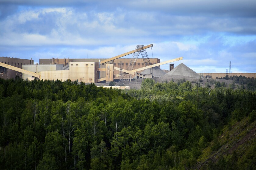 FILE - In this Aug. 26, 2014 file photo, the Minntac taconite mine plant in Mountain Iron, Minn. is pictured. The Minnesota Court of Appeals on Monday, Dec. 9, 2019 reversed a decision by state regulators to renew a wastewater permit for U.S. Steel's Minntac iron mine in northeastern Minnesota. The court sent the dispute back to the Minnesota Pollution Control Agency for further proceedings. (Glen Stubbe/Star Tribune via AP, File)