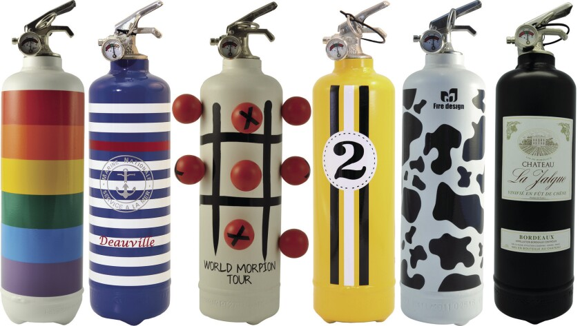 Fire extinguishers with style