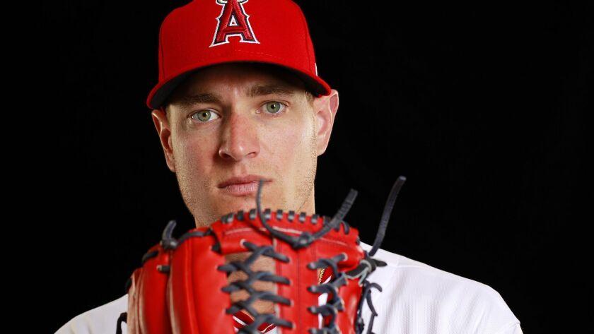 Los Angeles Angels of Anaheim pitcher Garrett Richards.