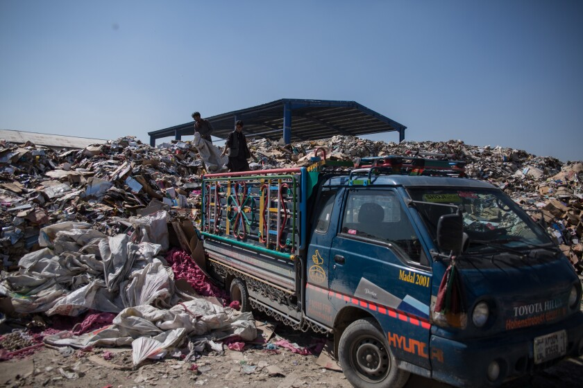 Kabul's 6 million people generate up to 308 tons of trash each day, according to the city.