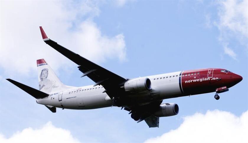 La aerolínea Norwegian conectará las ciudades de Miami y Londres con un vuelo diario a partir del próximo 31 de marzo de 2019, según informó hoy en un comunicado. EFE/Archivo