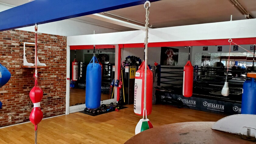 Ten Goose Boxing Gym in Van Nuys has been closed to the public since March. Its owner said LAPD officers wrongly assumed it was still open.
