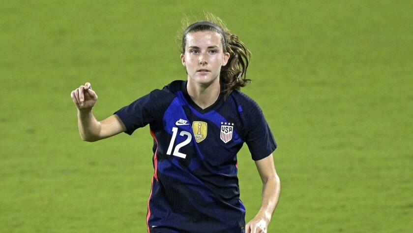 Tierna Davidson on the soccer field