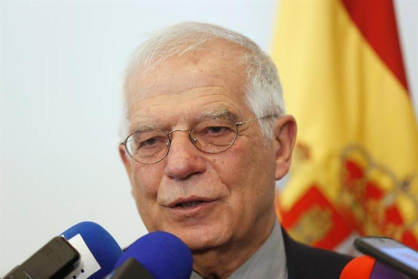 El ministro de Asuntos Exteriores de España, Josep Borrell, habla durante una rueda de prensa hoy, viernes 30 de noviembre de 2018, en Ciudad de México (México). EFE