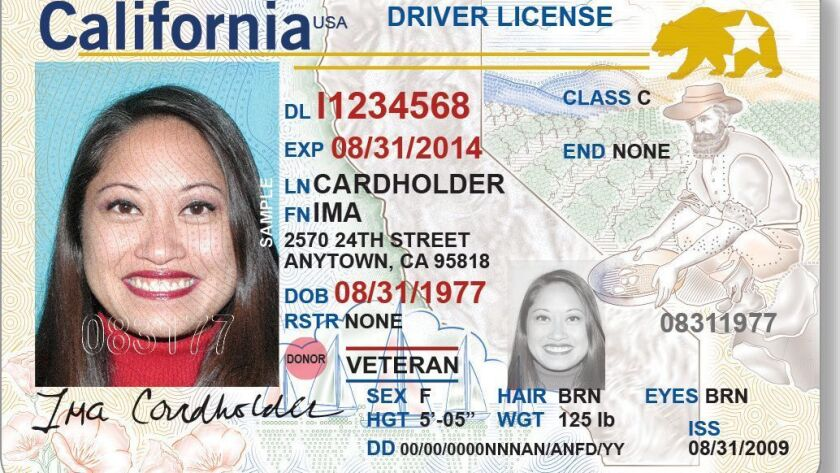An example of the REAL ID driver license.