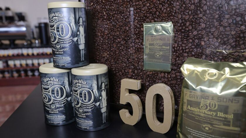Detail of the 50th anniversary coffee, made of a special blend of coffee grown on the Carmen Estate