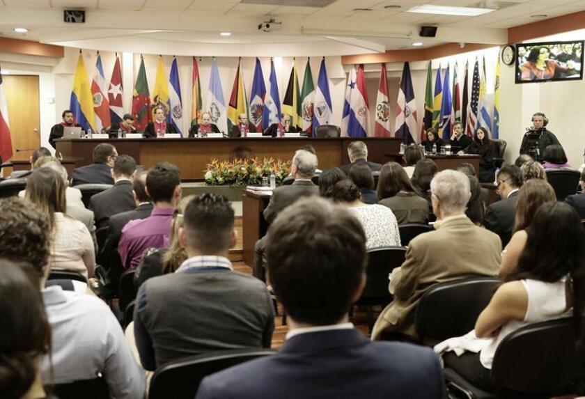 Vista de una audiencia de la Corte Interamericana de Derechos Humanos (CorteIDH) . EFE/Archivo