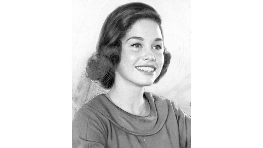Mary Tyler Moore in 1959 around the time she was appearing on album covers.