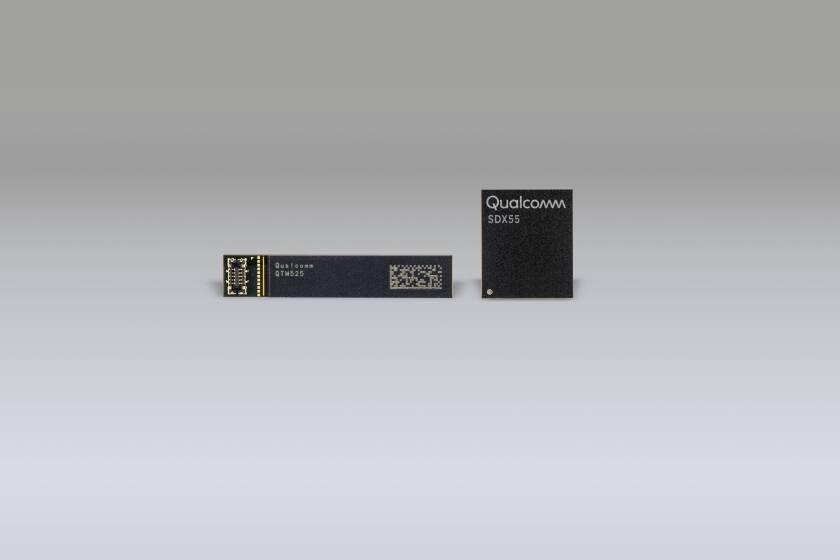 Qualcomm 5G RF front end module  and 5G  celluar modem chip