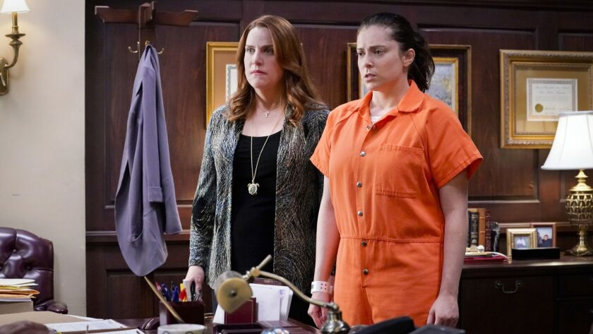 """Paula (Donna Lynne Champlin) and Rebecca (Rachel Bloom) co-star in """"Crazy Ex-Girlfriend."""" The show's fourth and final season is airing now on the CW network."""