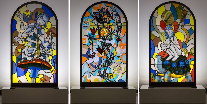 Judson Studios' collaboration with James Jean, a combination of stained glass and fused glass, is featured in the new book.