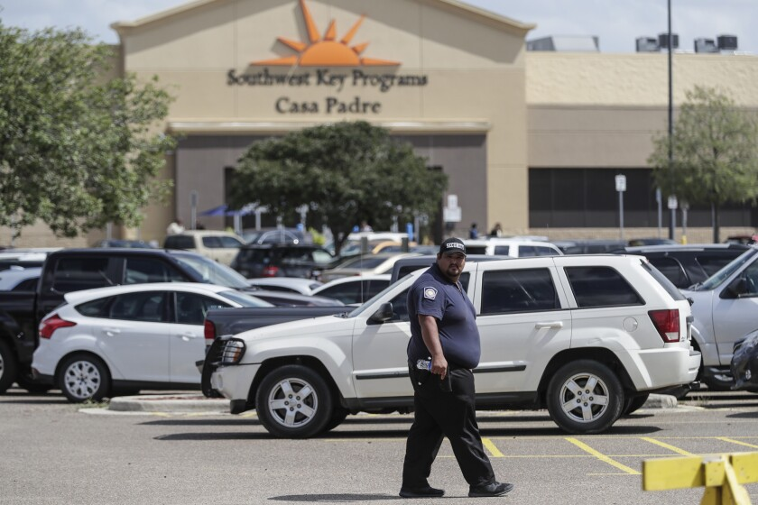 BROWNSVILLE, TEXAS,TUESDAY, JIUNE 26, 2018 - A converted WalMart is home to Southwest Key Programs C