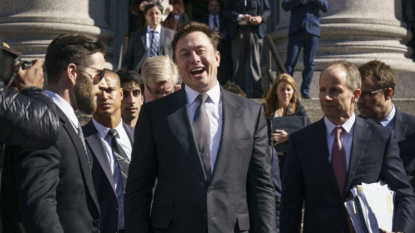 *** BESTPIX *** Judge Considers Whether To Hold Tesla Chief Executive Elon Musk In Contempt Over Tweet