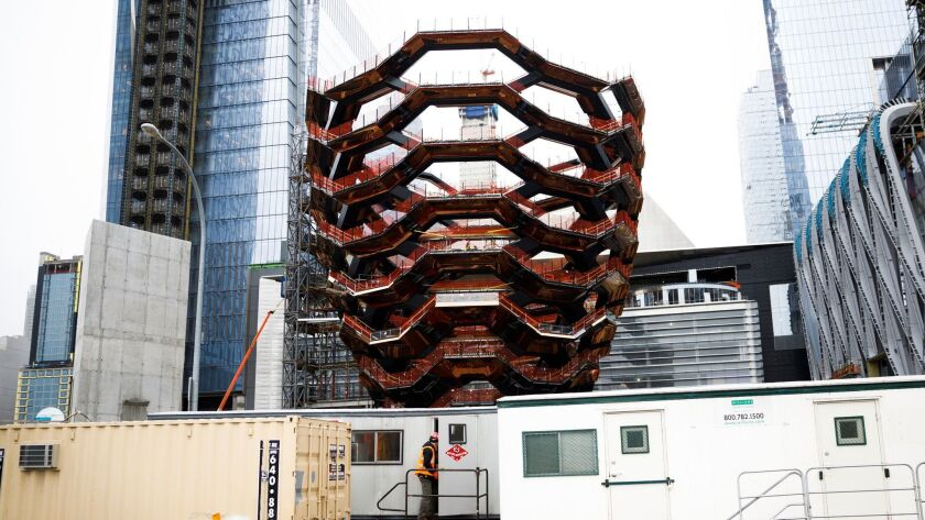Thomas Heatherwick's Vessel at Hudson Yards in New York, USA - 22 Feb 2018