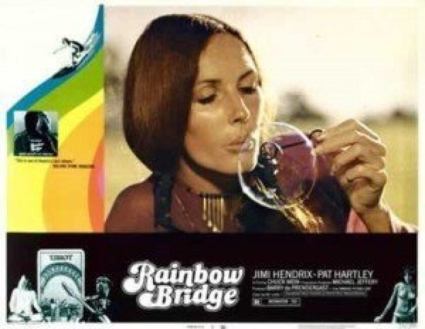 La Jollan Melinda Merryweather, pictured here at the time of the filming, can be seen in 'Rainbow Bridge.'