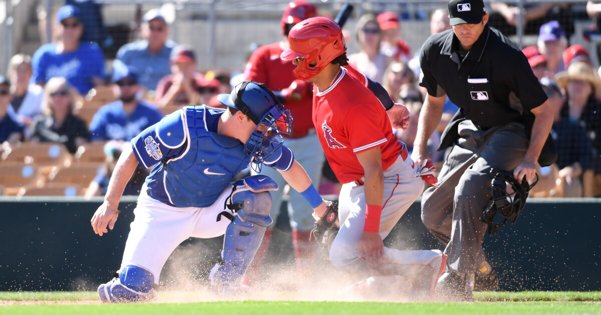 Dodgers beat Angels behind good pitching and offense in spring training exhibition