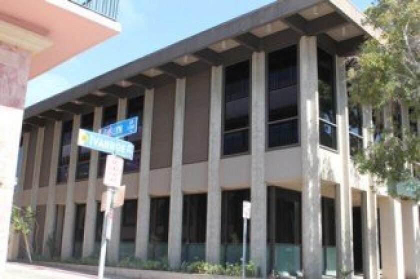 This building at 7917 Ivanhoe Ave. was deigned by the late La Jolla architect Russell Forester as the Jefferson Gallery, which operated on the second story in the mid-1960s.