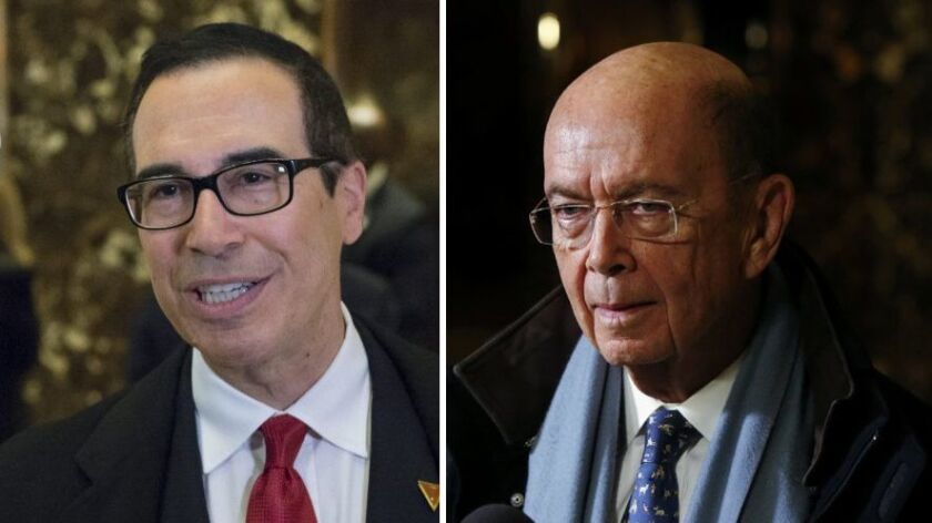Steven Mnuchin and Wilbur Ross